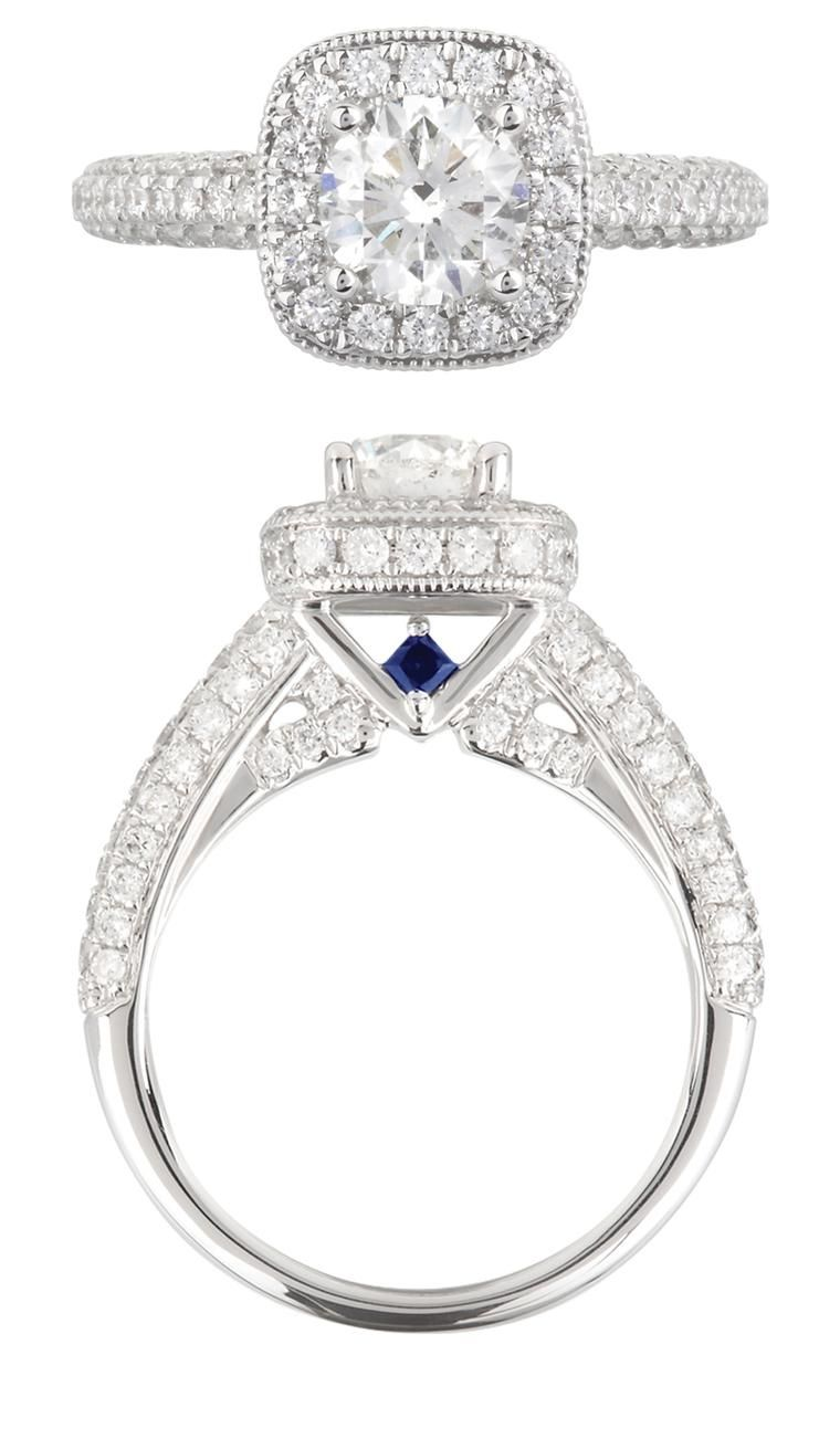 Love Diamond And Sapphire Engagement Ring In 2018 Products I Love