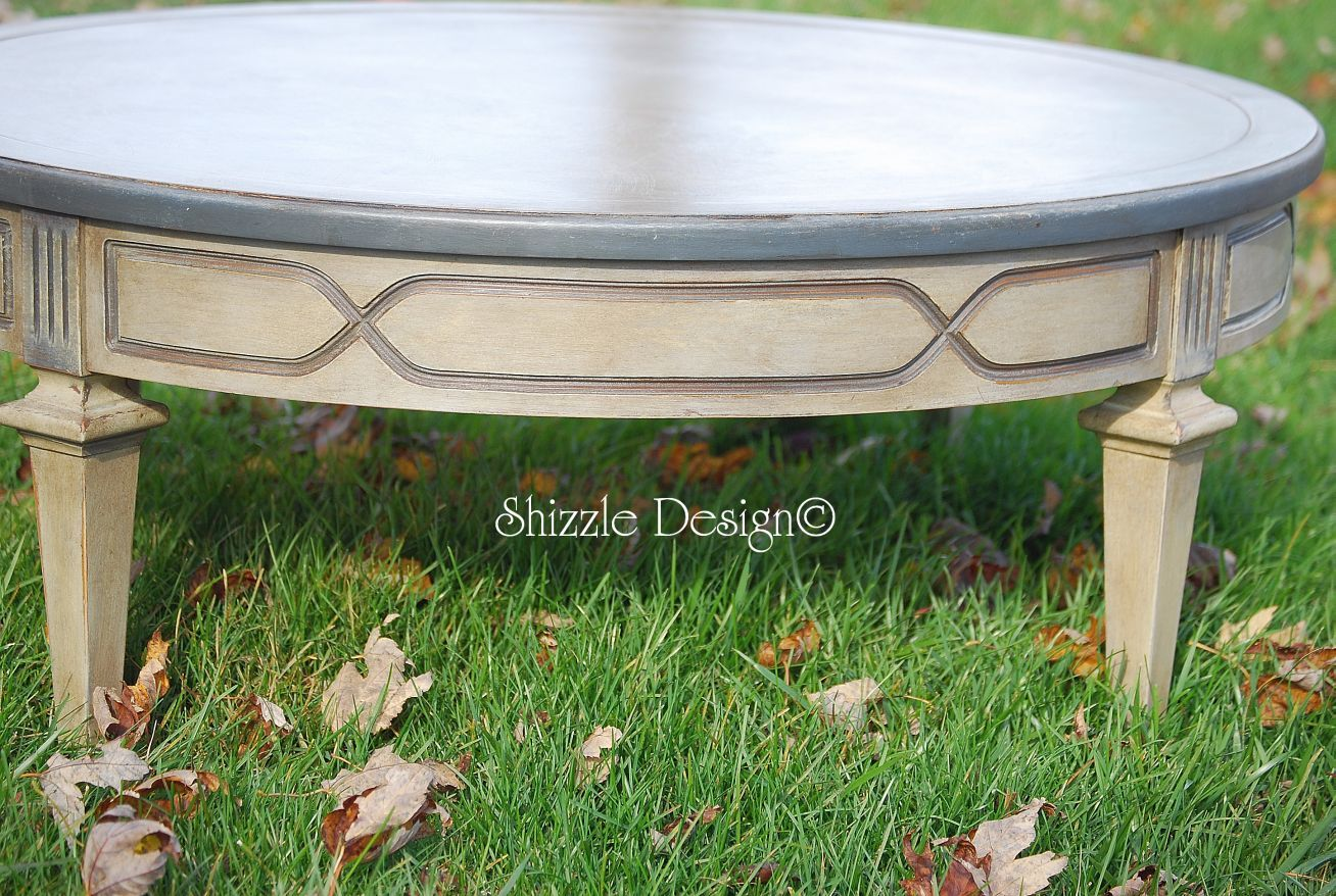 Diy Distressed Oval Coffee Table