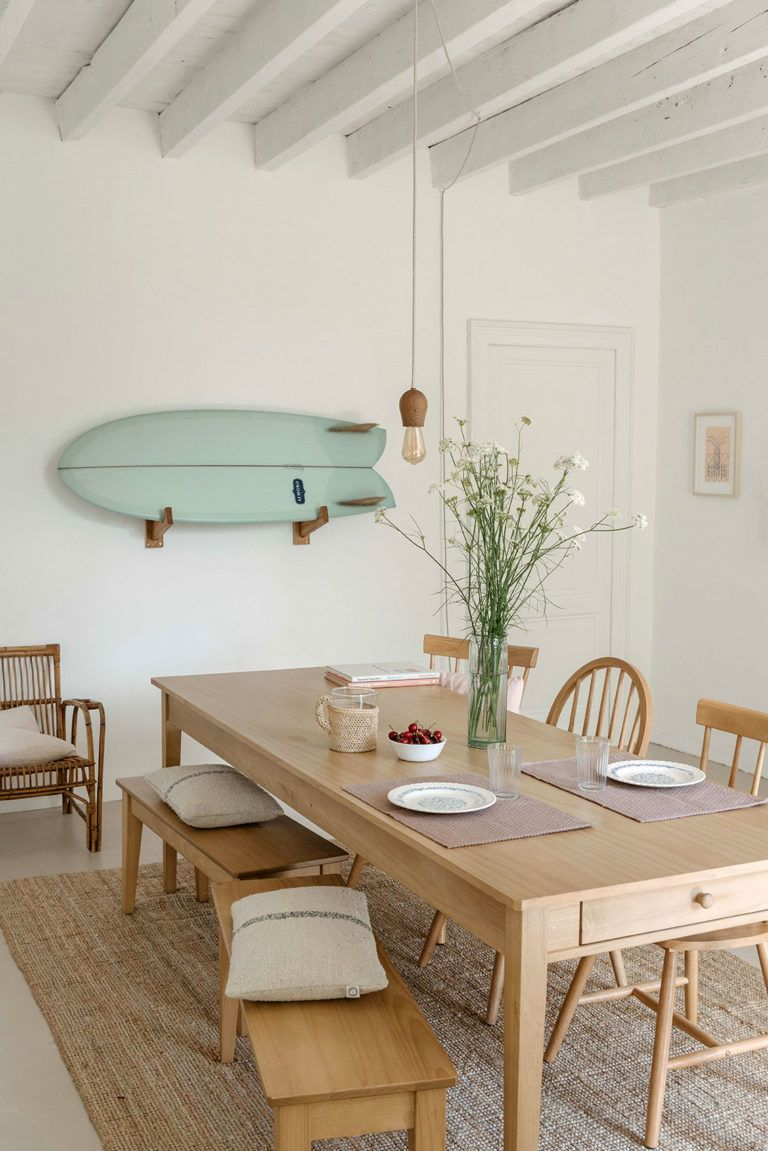 at home in france with olivia thebaut -   14 room decor Dining ceilings ideas
