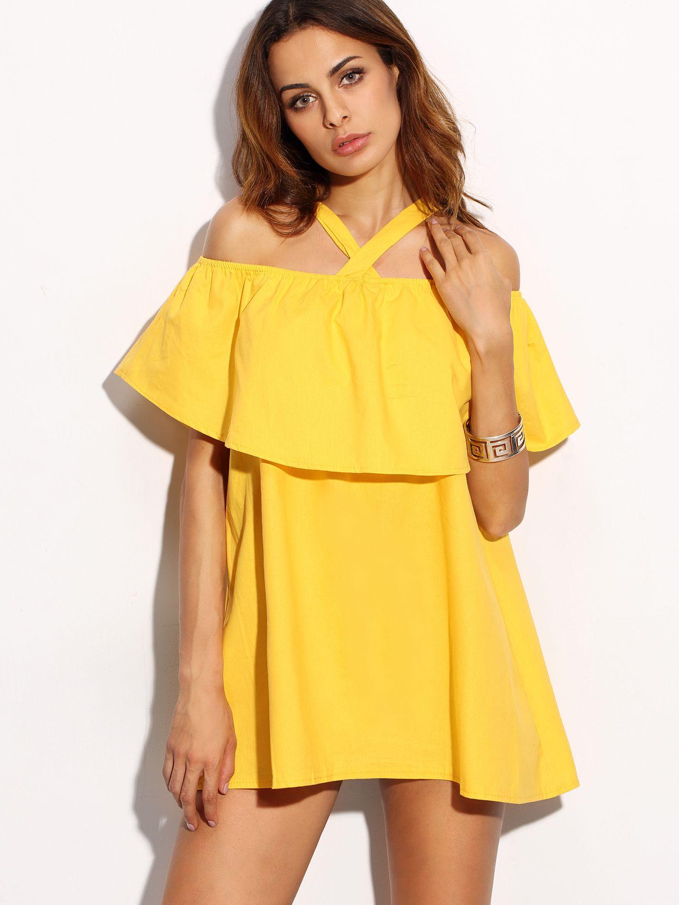 Shein Sheinside Women Fast Fashion Online Dresses Ruffle Dress Spring Fashion Outfits [ 1785 x 1340 Pixel ]