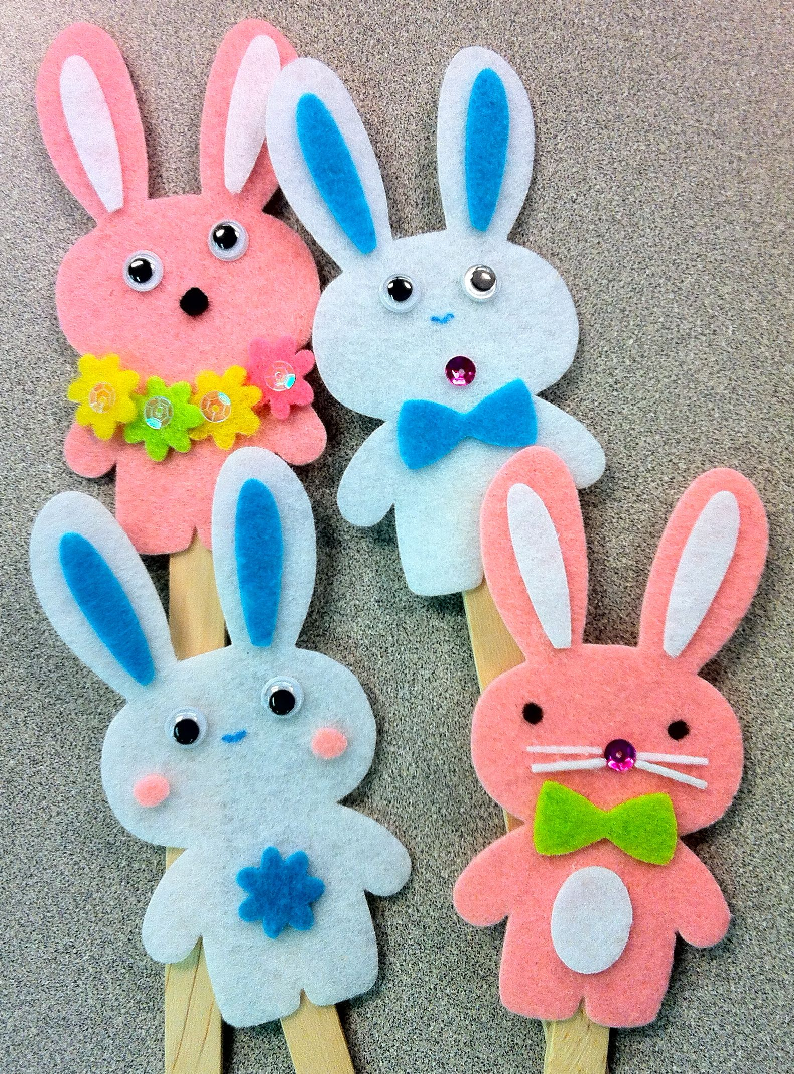 Easter week - bunny sticks