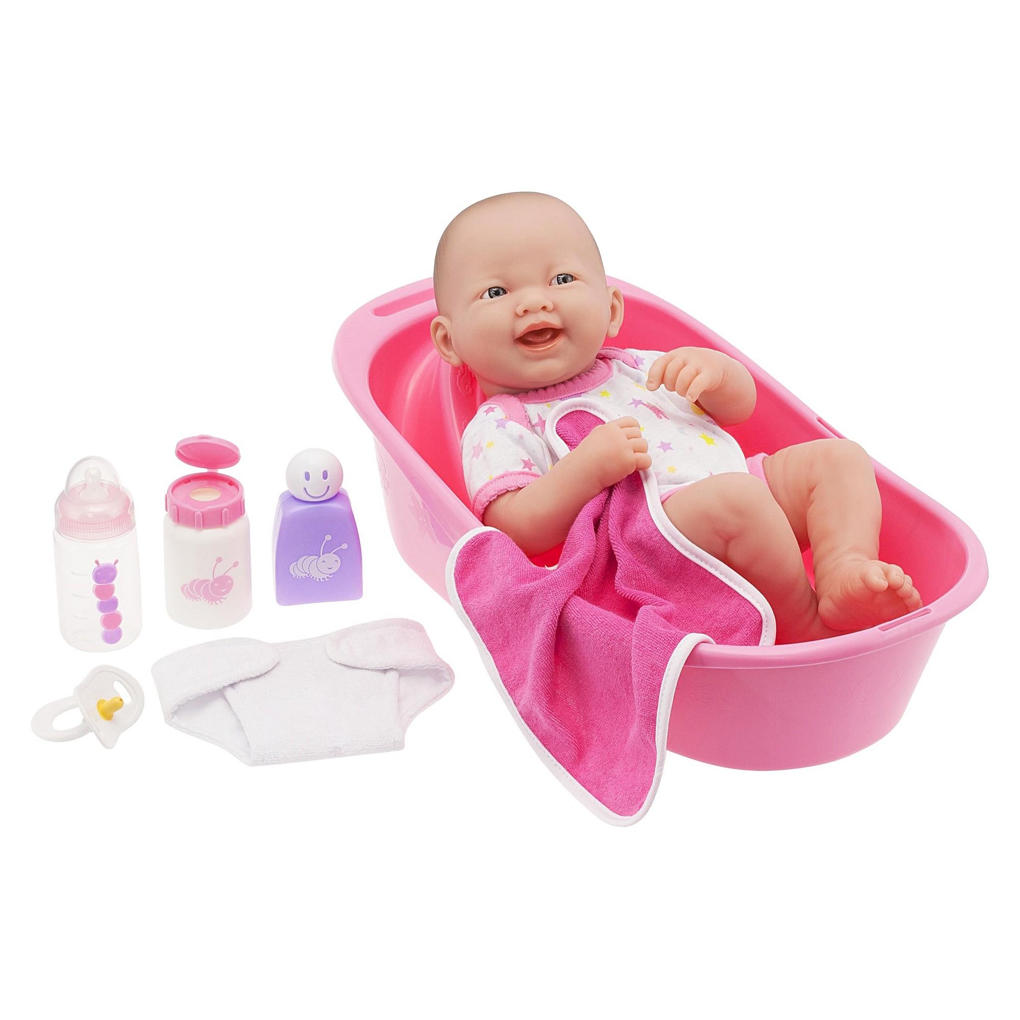 JC Toys La Newborn 14 Deluxe Bath Washable All Vinyl Baby Doll Bath ...