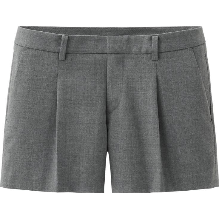 WOMEN WOOL BLENDED SHORTS