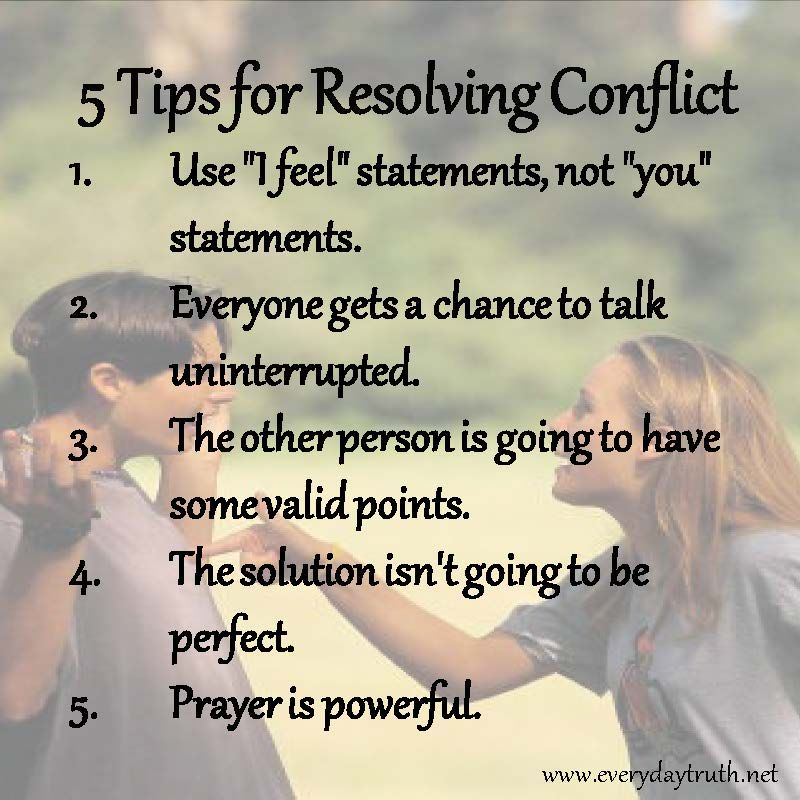 conflict resolution strategy for adults