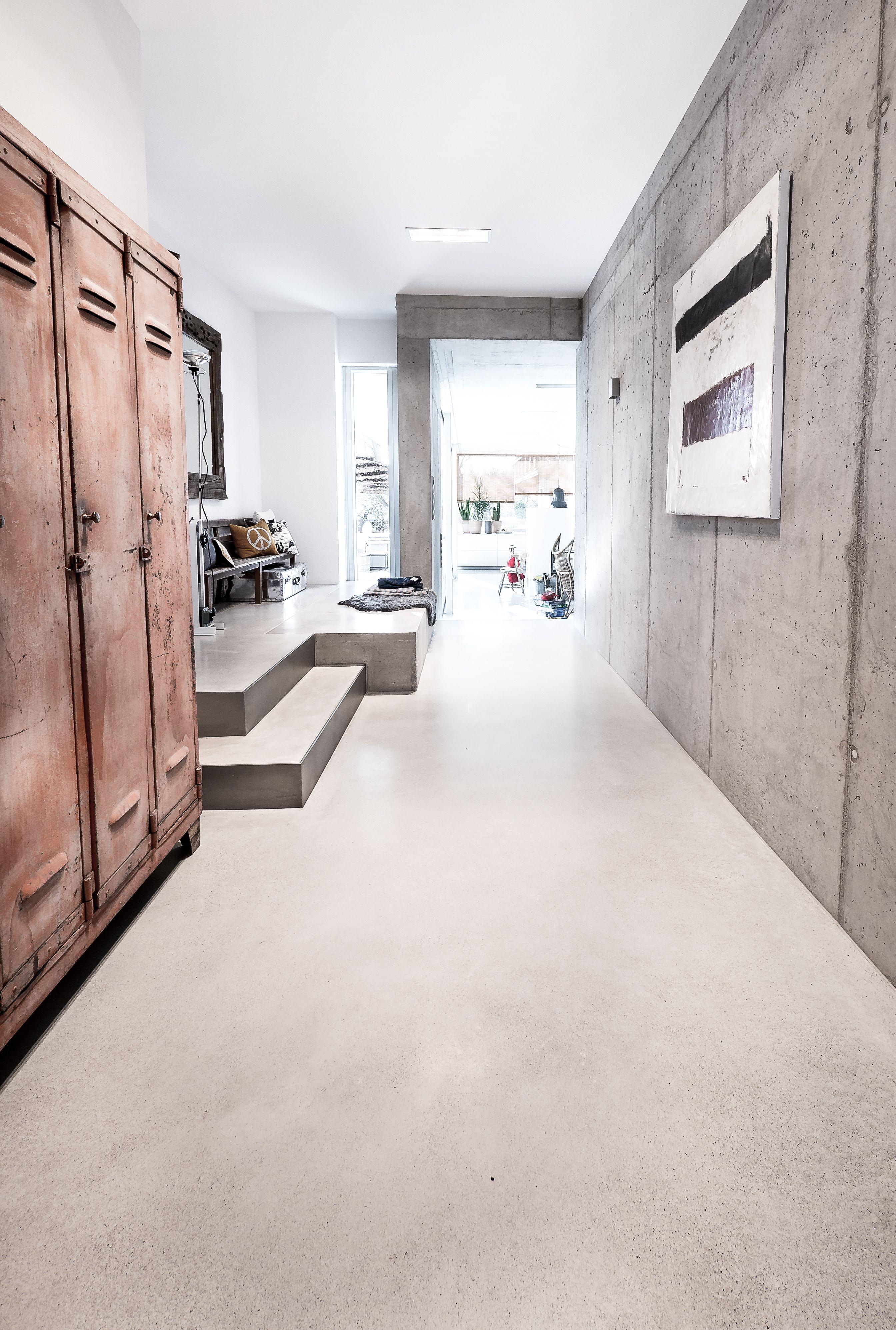 Creafloor Design Estrich Hausflur Designboden Sichtestrich Beton