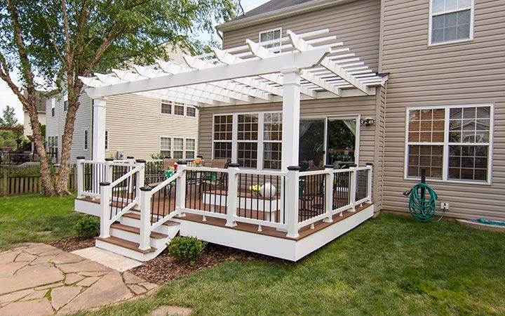 Easy to Install DIY Engineered Trex Pergola Kits made from Low Maintenance  Cellular Vinyl, Standard & Custom Pergola Designs - Trex Pergola Brings Outdoor Living To New Heights And Provides The