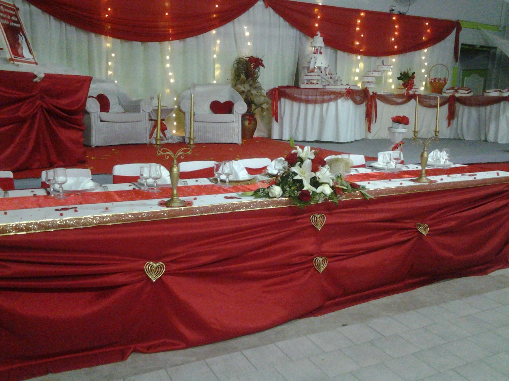 Dcoration de table mariage Table du0027honneur Nappe