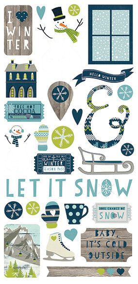 Simple Stories - Snow Fun Collection - Christmas - Cardstock Stickers - Fundamentals at Scrapbook.com