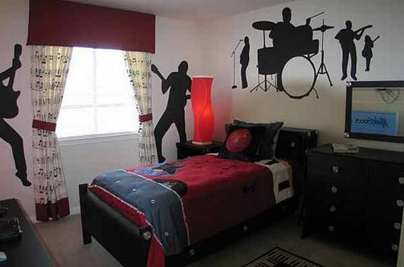 Awesome guitar themed bedroom boys would love    Boys    Pinterest     Awesome guitar themed bedroom boys would love