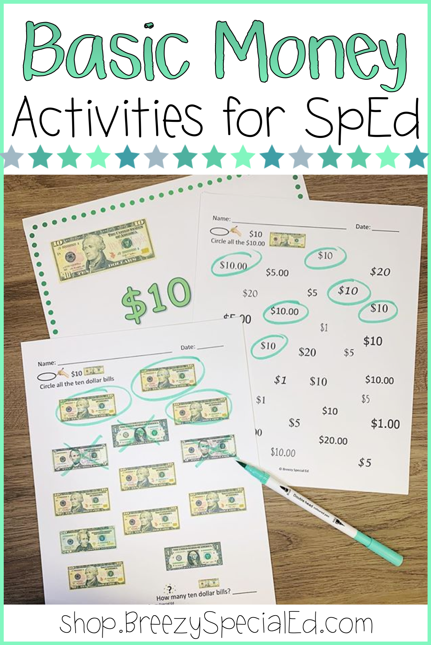 small resolution of Learning Bills and Values (money skills for special education)   Money math