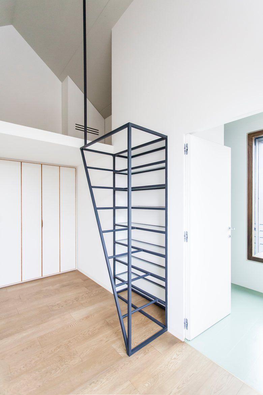 Deamicisarchitetti A Pavia Villa Di Pianura Nel 2020 Scale Moderne Scale Scale Metalliche