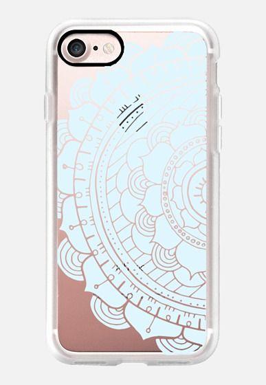 Casetify iPhone 7 Classic Grip Case - Light Aqua Mandala by Jande Laulu #Casetify