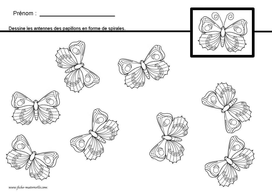 Graphisme en maternelle apprendre tracer des spirales en - Papillon maternelle ...