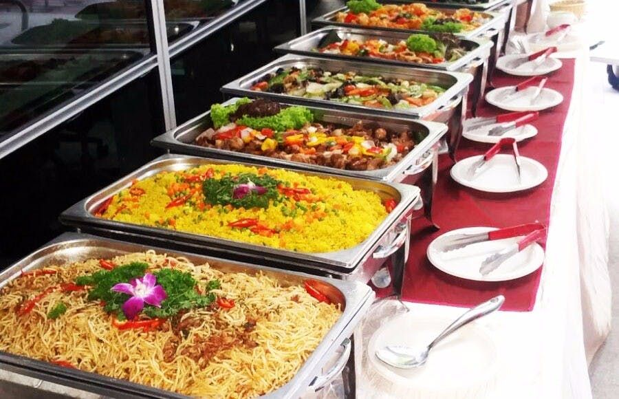 Caters Ensures No Scarcity Of Food At Your Special Occasion Wedding Buffet Food Food Indian Wedding Food