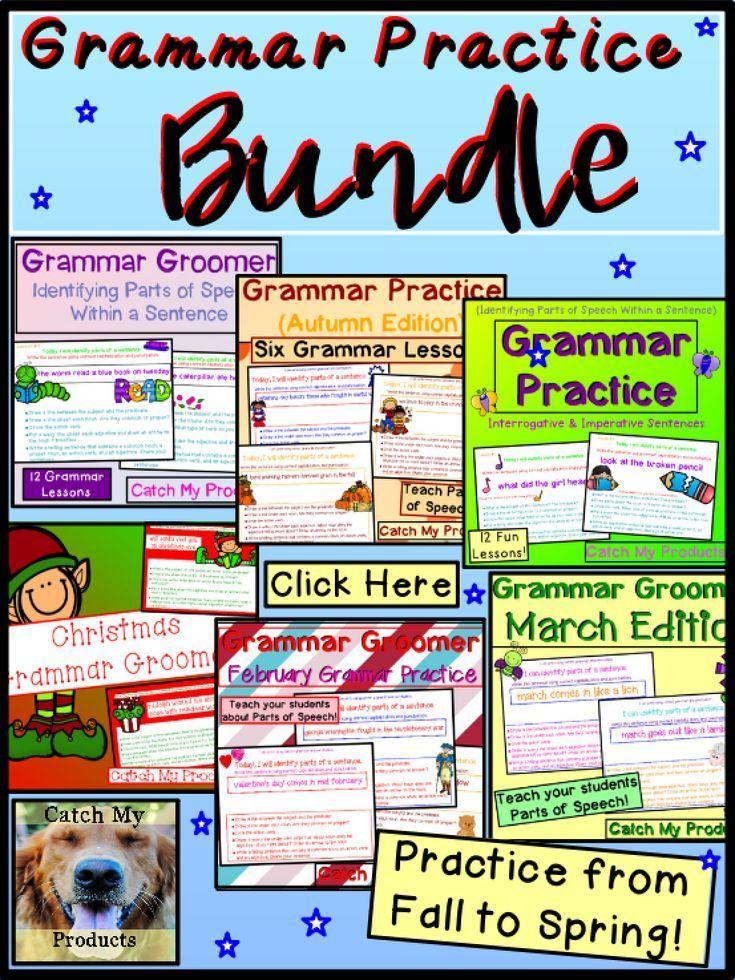 Grammar Review and Grammar Practice MEGA-Bundle Power Point ...