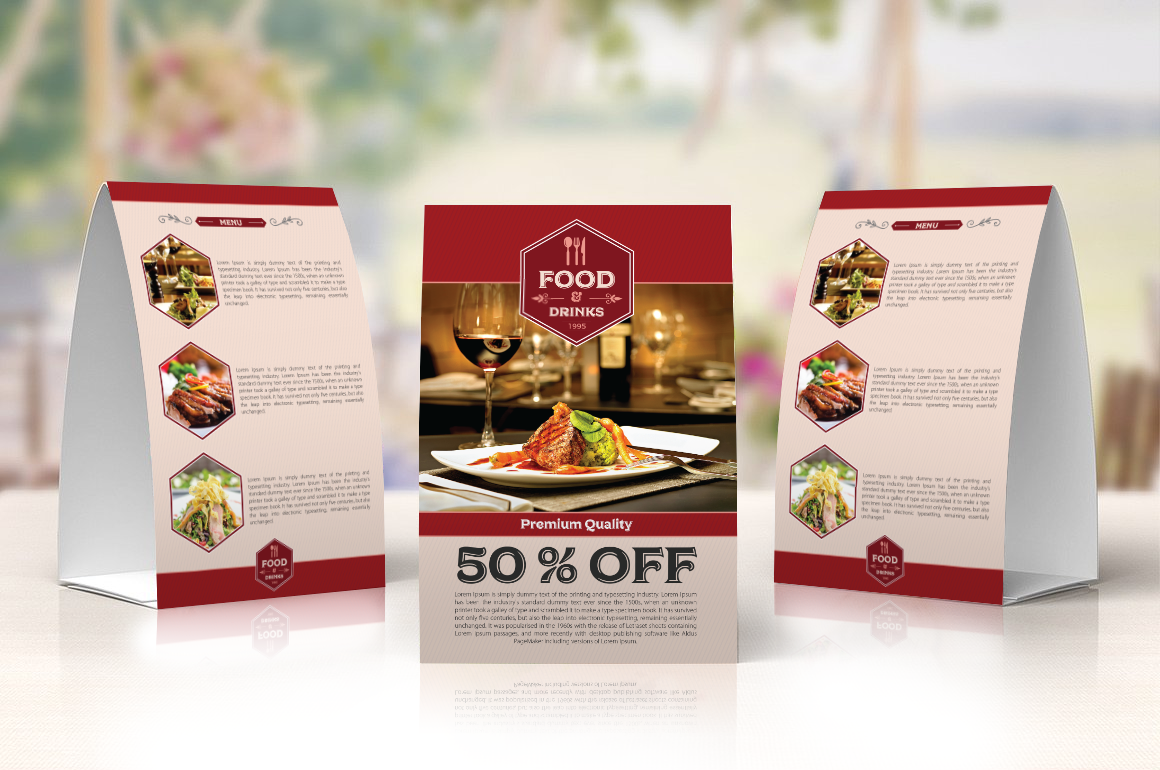 Free Restaurant Table Tent Template Free Restaurant Table Tent Template Brochures and Flyers