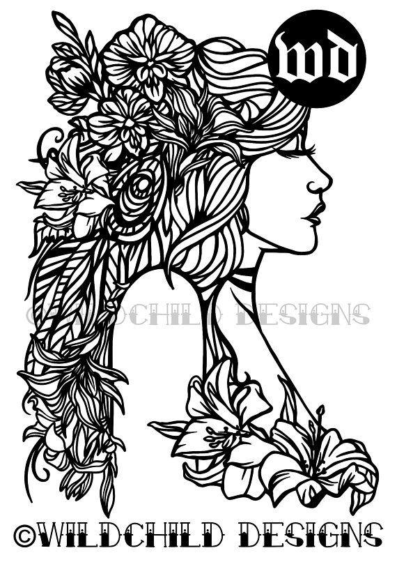 Vesna Spring Goddess Papercutting Template, Vinyl Template, SVG ...