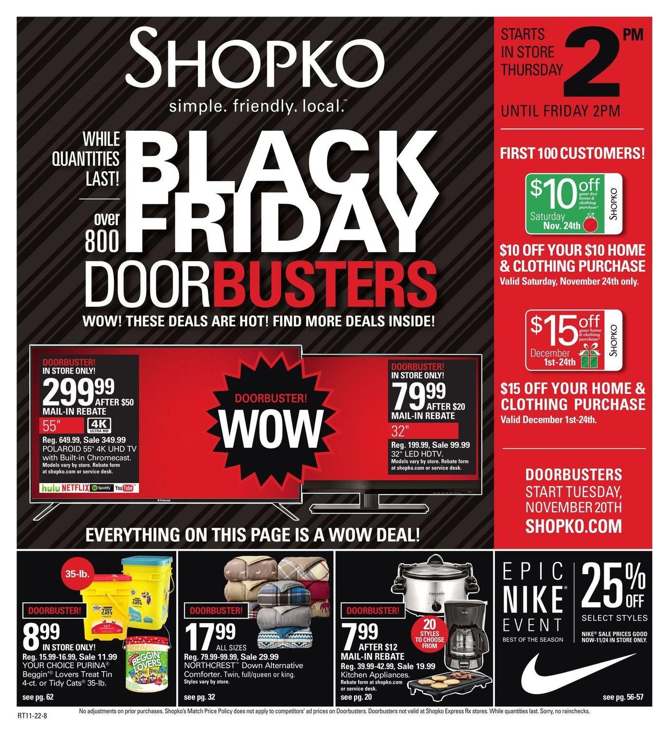 Shopko 2018 Black Friday Ad in 2020 Black friday ads