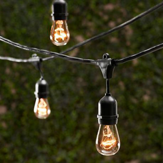 Restoration Hardware Party Globe Light String: Vintage Patio String Lights With Edison Bulbs From Ballard