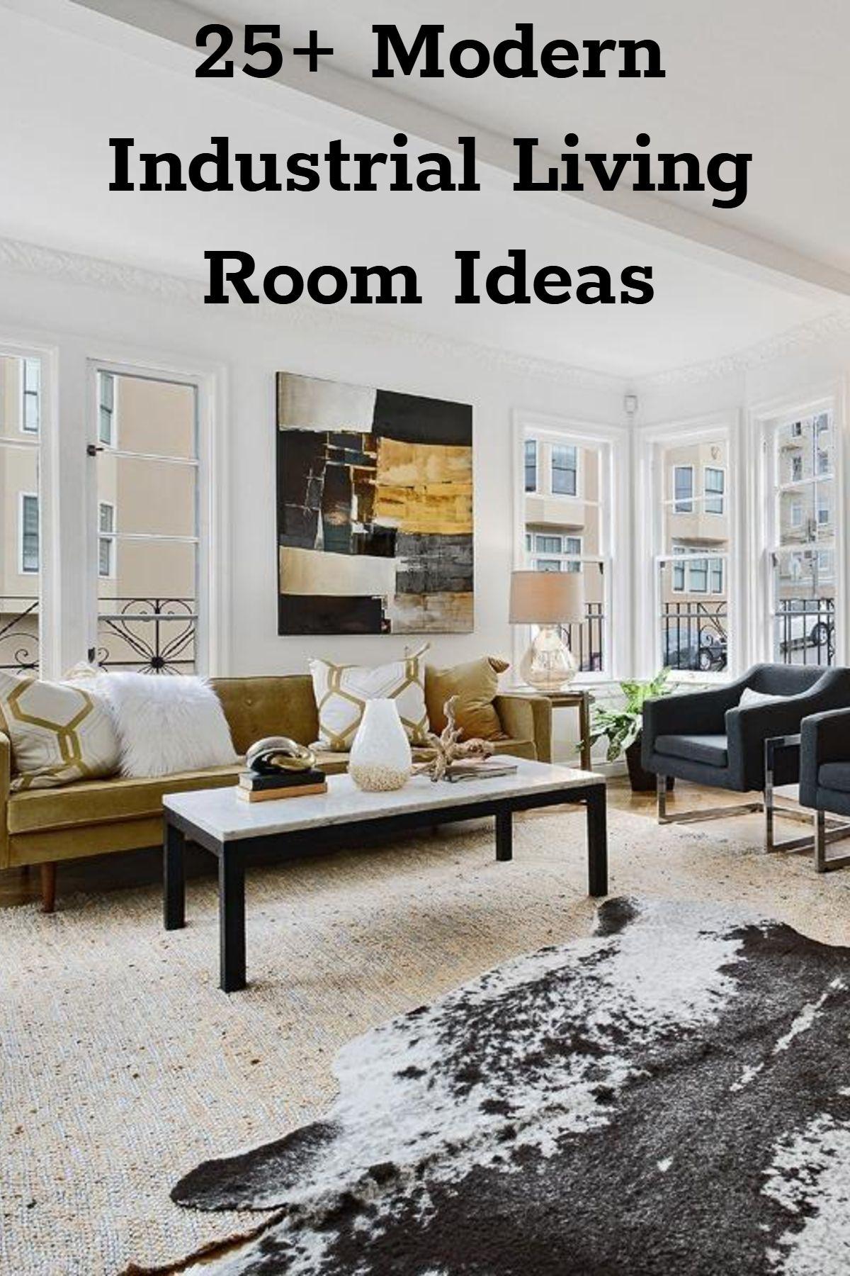 51 Industrial Living Room Decor Ideas Modern Industrial Living Room