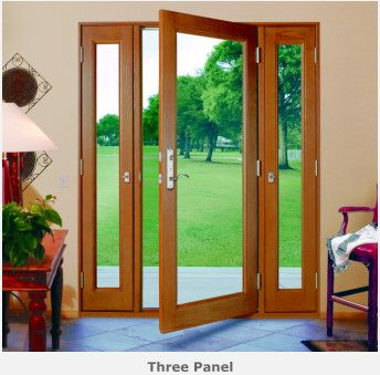 Three Panel Glass Doors With Side Panels That Open Nuema