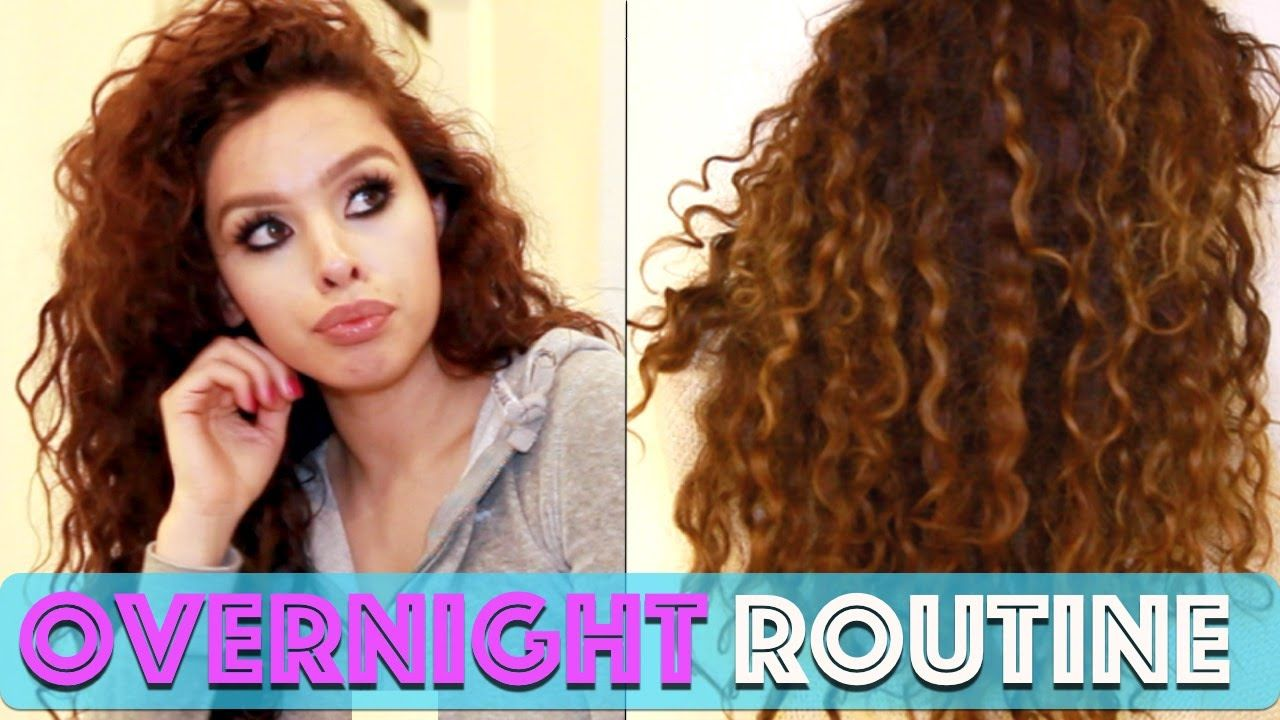 Preserve Naturally Curly Hair Overnight Youtube Video By Alexandrasgirlytalk 3 Curly Hair Overnight Curly Hair Styles Naturally Hair Routines