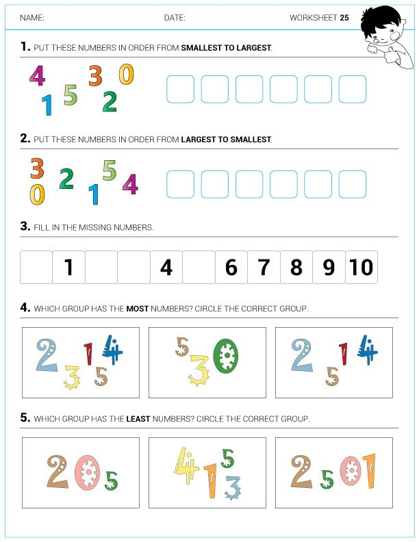 Math with Mathew Kindergarten Worksheets 0-1