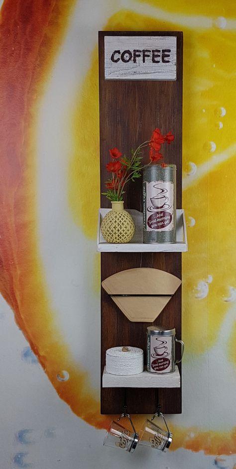 Küchenregal Coffee upcycling Ein neues Kaffee Regal für deine - küche deko wand