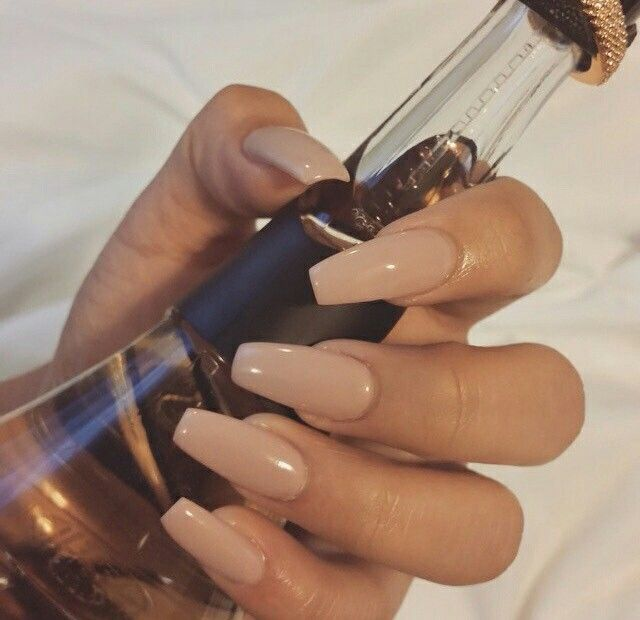 Nude coffin nails. | Nails | Pinterest | Coffin nails, Makeup and ...