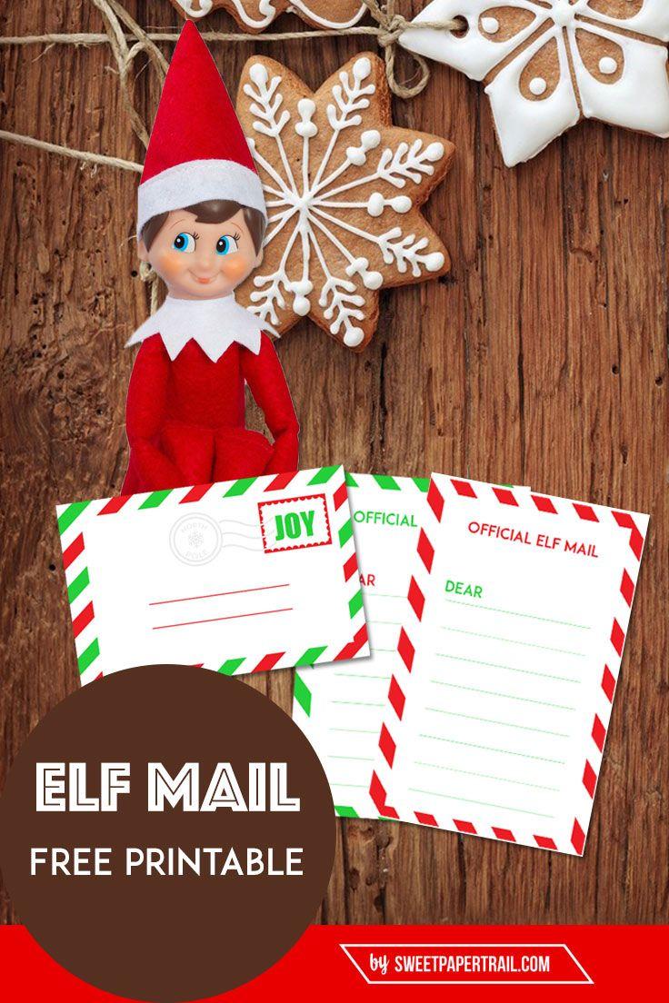 Elf Mail Free Printable Elf Christmas Elf Elf Printables