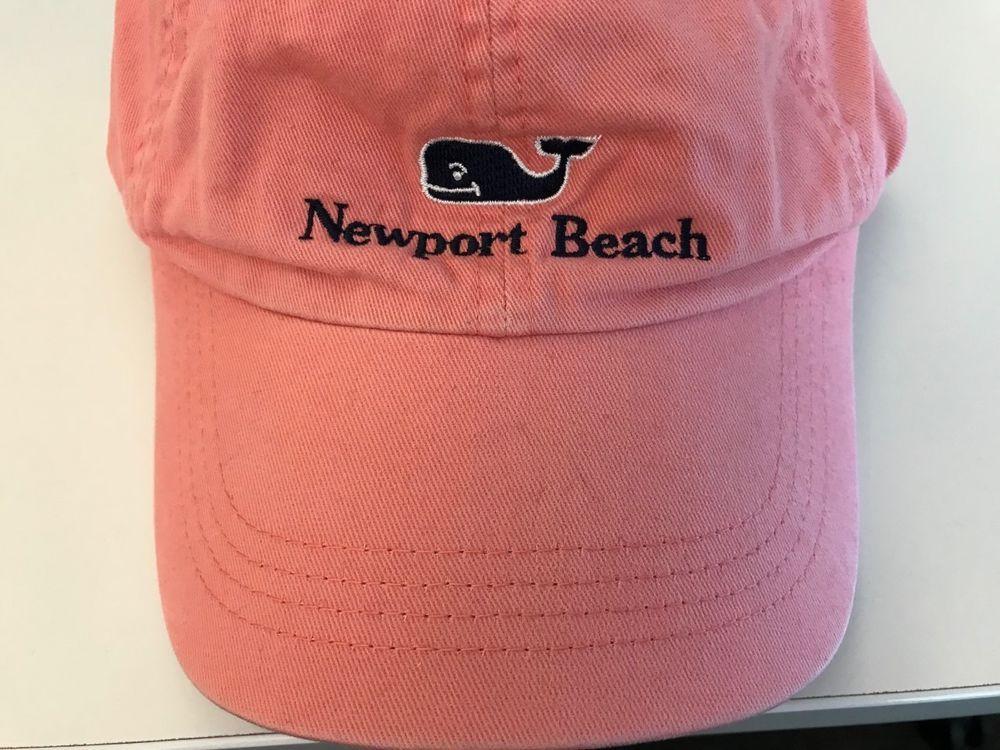 Vineyard Vines Newport Beach Women s Men s Strapback Hat Whale Salmon Pink  OSFM  fashion  clothing 56ccc2a8becc