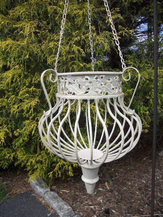 Planter Wrought Iron Garden Decor | 4Rustic Garden | Pinterest ...