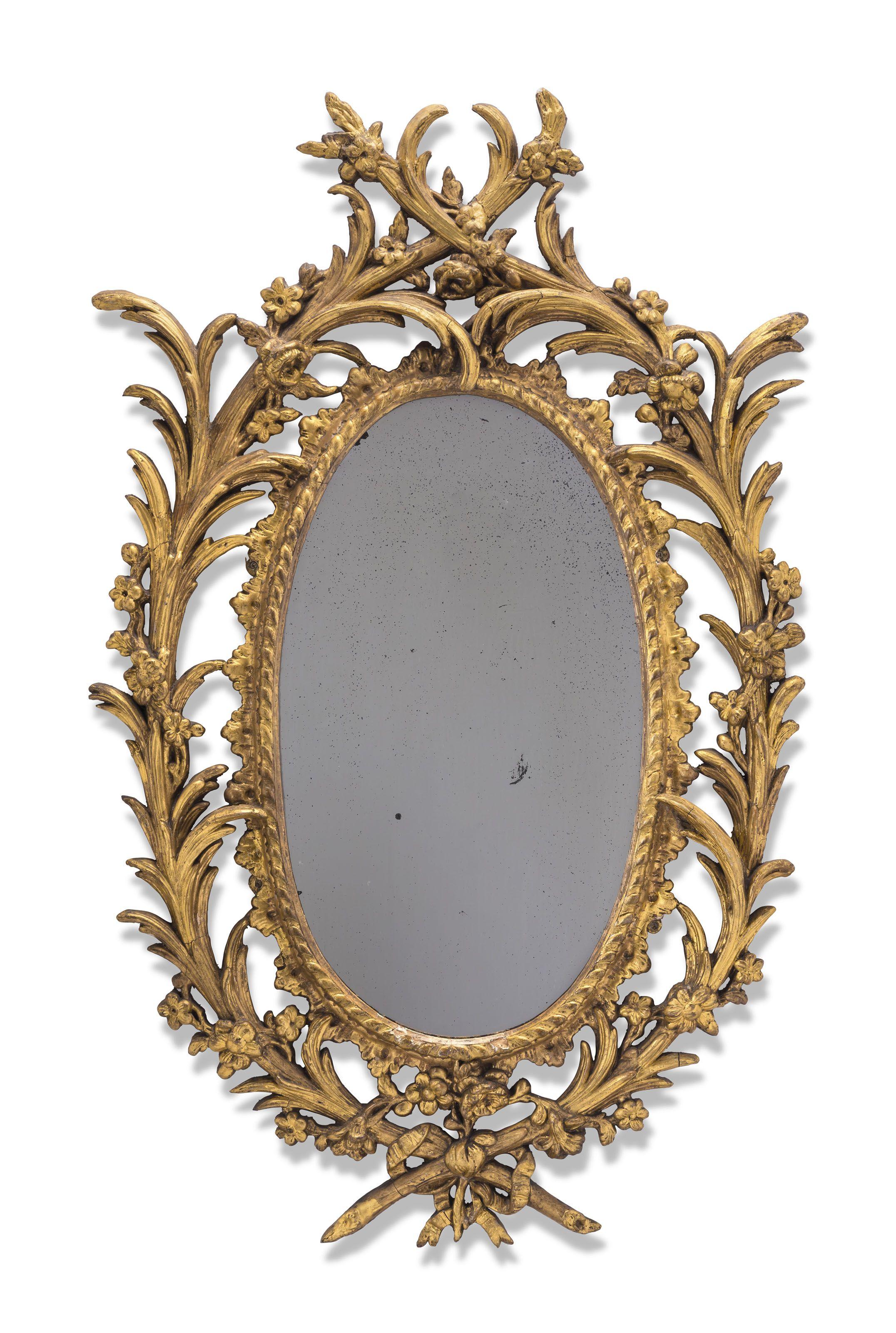 C1760 70 A George Iii Carton Pierre Oval Wall Mirror Circa 1760 70 Price Realised Gbp 4 000 Oval Wall Mirror Mirror Wall Mirror