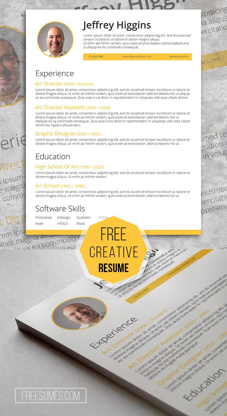 Creatively Smart A Stylish Resume Template Freebie Pinterest