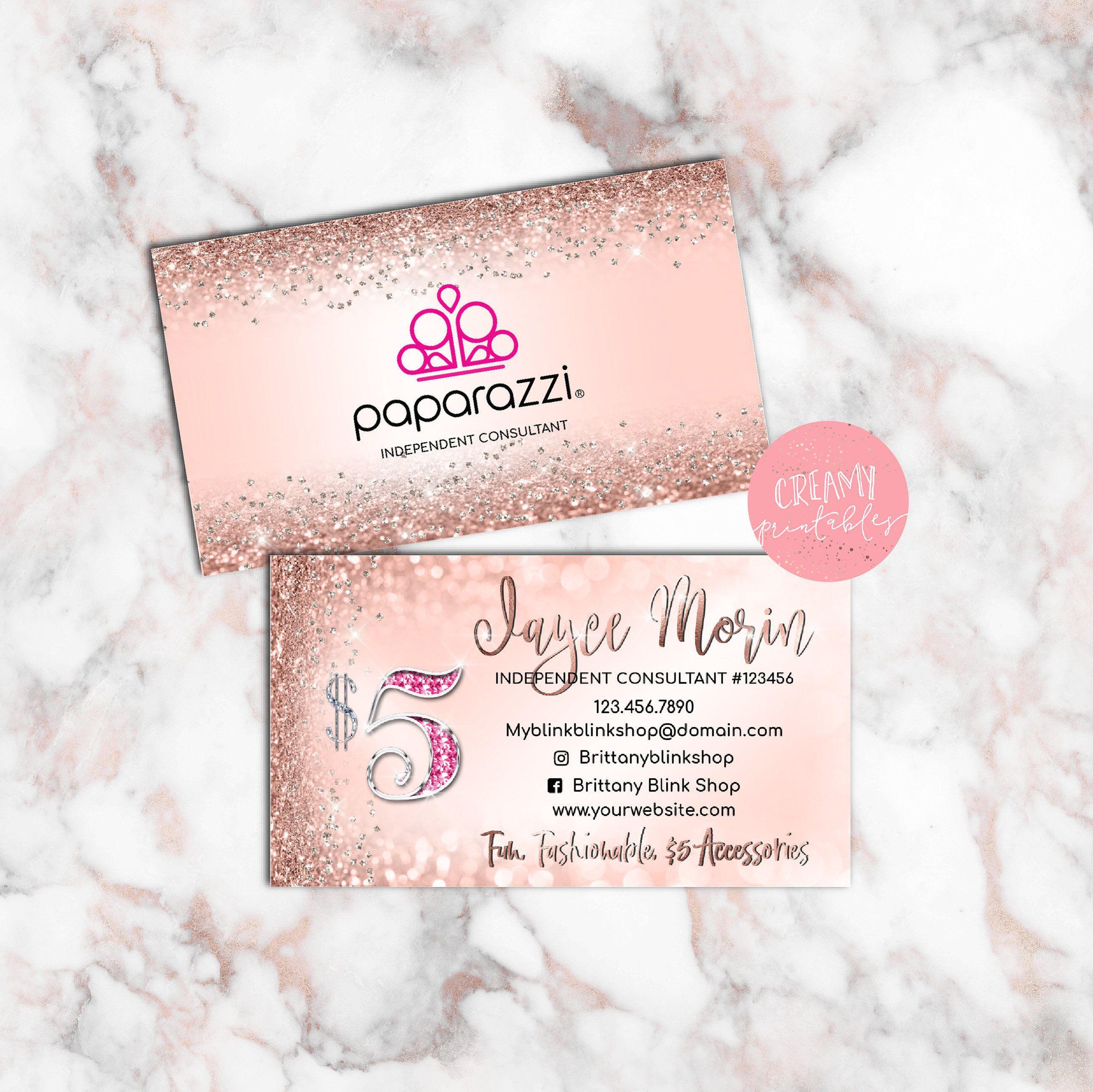 Paparazzi Business Cards Paparazzi Jewelry Consultant Card - Paparazzi business card templates