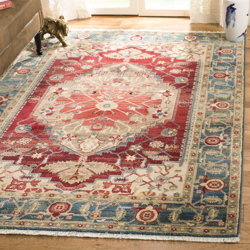 Land Blue Red Indoor Area Rug Reviews Birch Lane Red Area