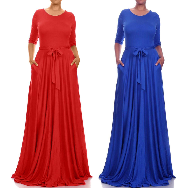elegant women summer autumn oneck vestidos sleeve dresses