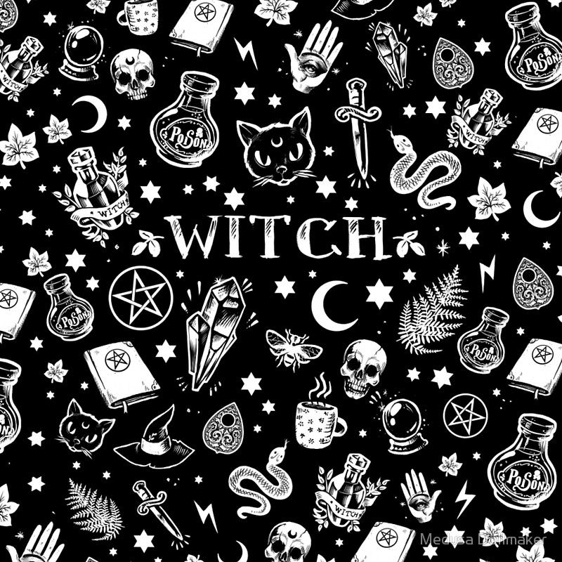 Witch Pattern 2 Mini Skirt Witchy Wallpaper Witch Wallpaper Witch Tattoo