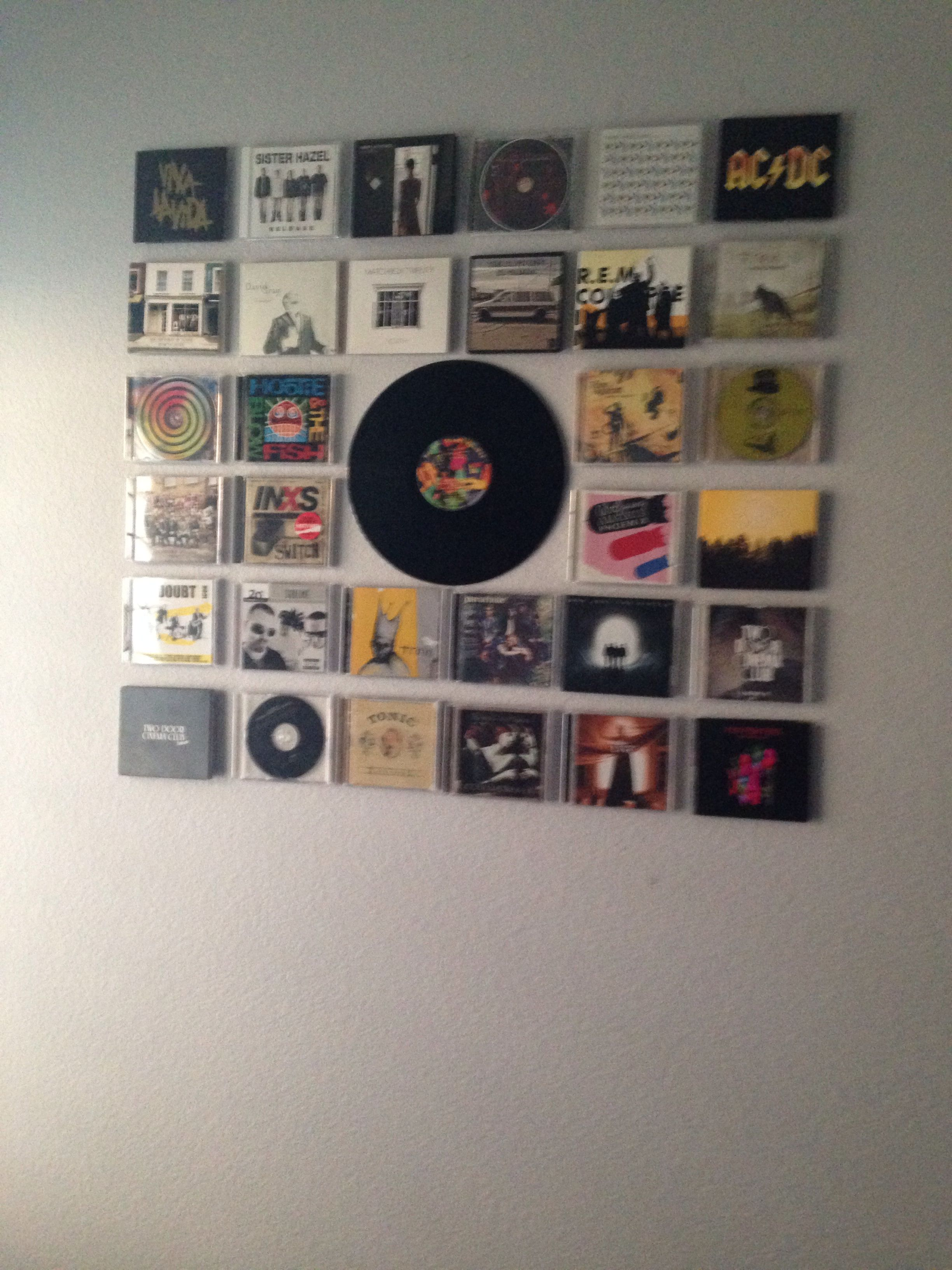 CD display. I love this! | CD-Wall, media design for home | Pinterest