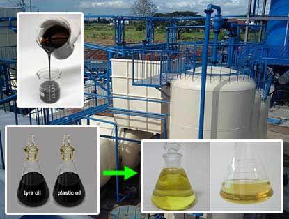 Beston pyrolysis oil distillation plant can refine tyre oil