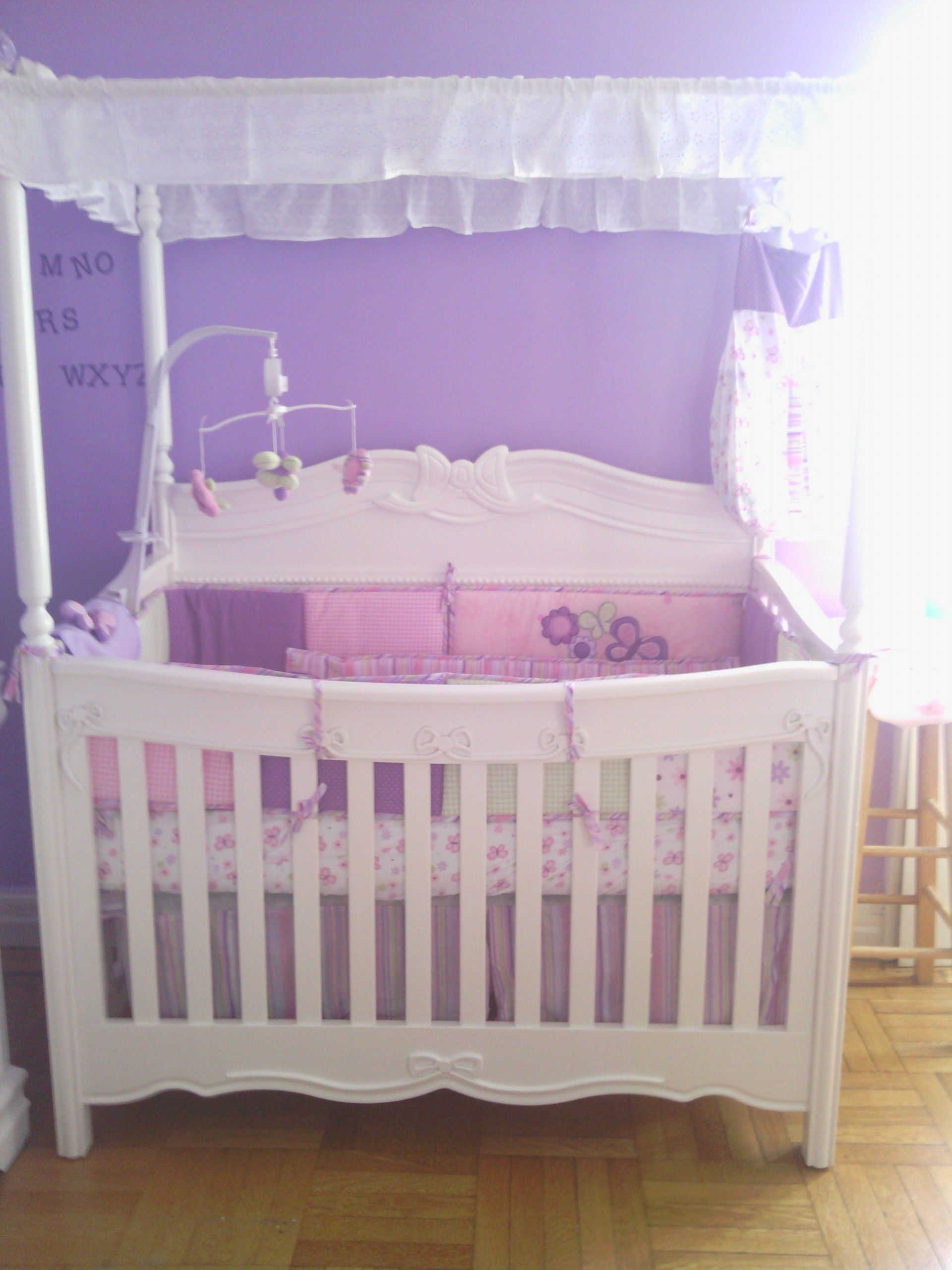 canopy crib | My babyu0027s princess white canopy convertible crib! & canopy crib | My babyu0027s princess white canopy convertible crib ...
