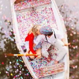 Five wedding ideas we're inspired by now, including this amazing confetti boat! (Photo by Priscila Valentina via Green Wedding Shoes)