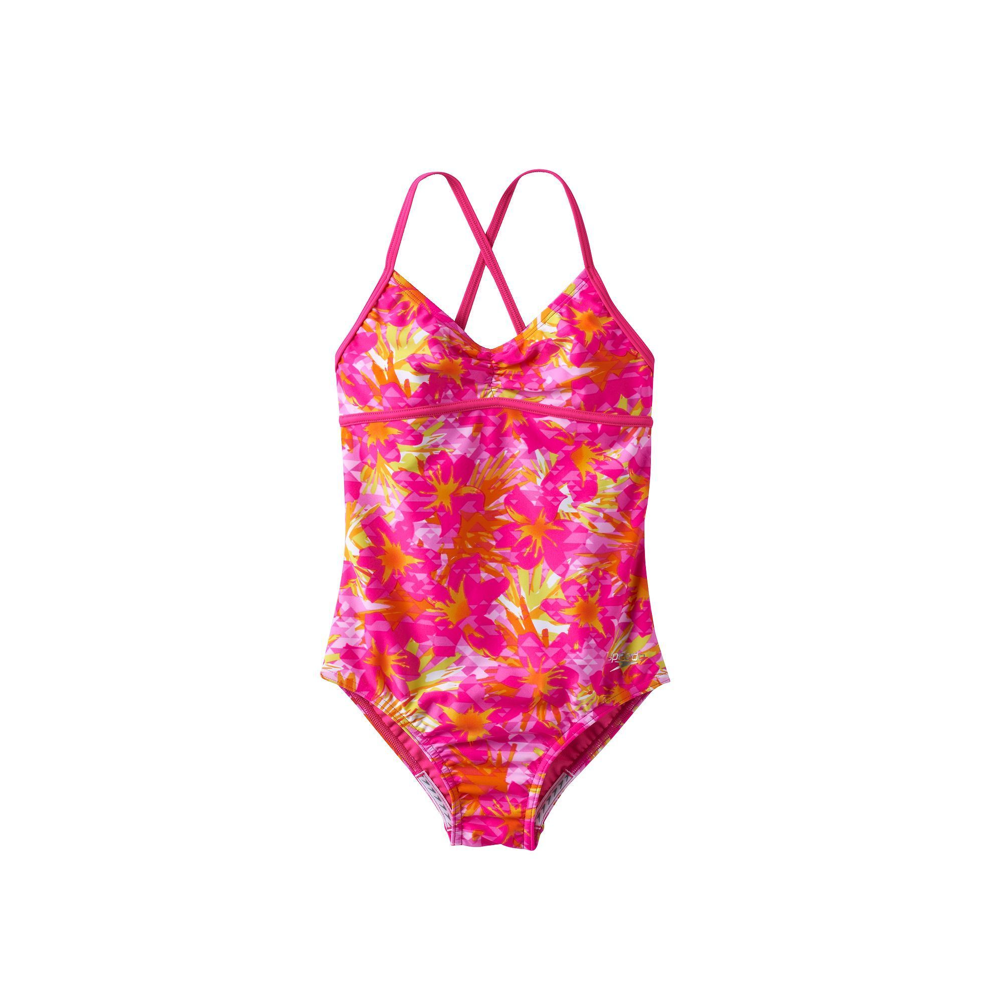 92ef541f4a4fa Girls 7-16 Speedo Jungle Floral One-Piece Swimsuit