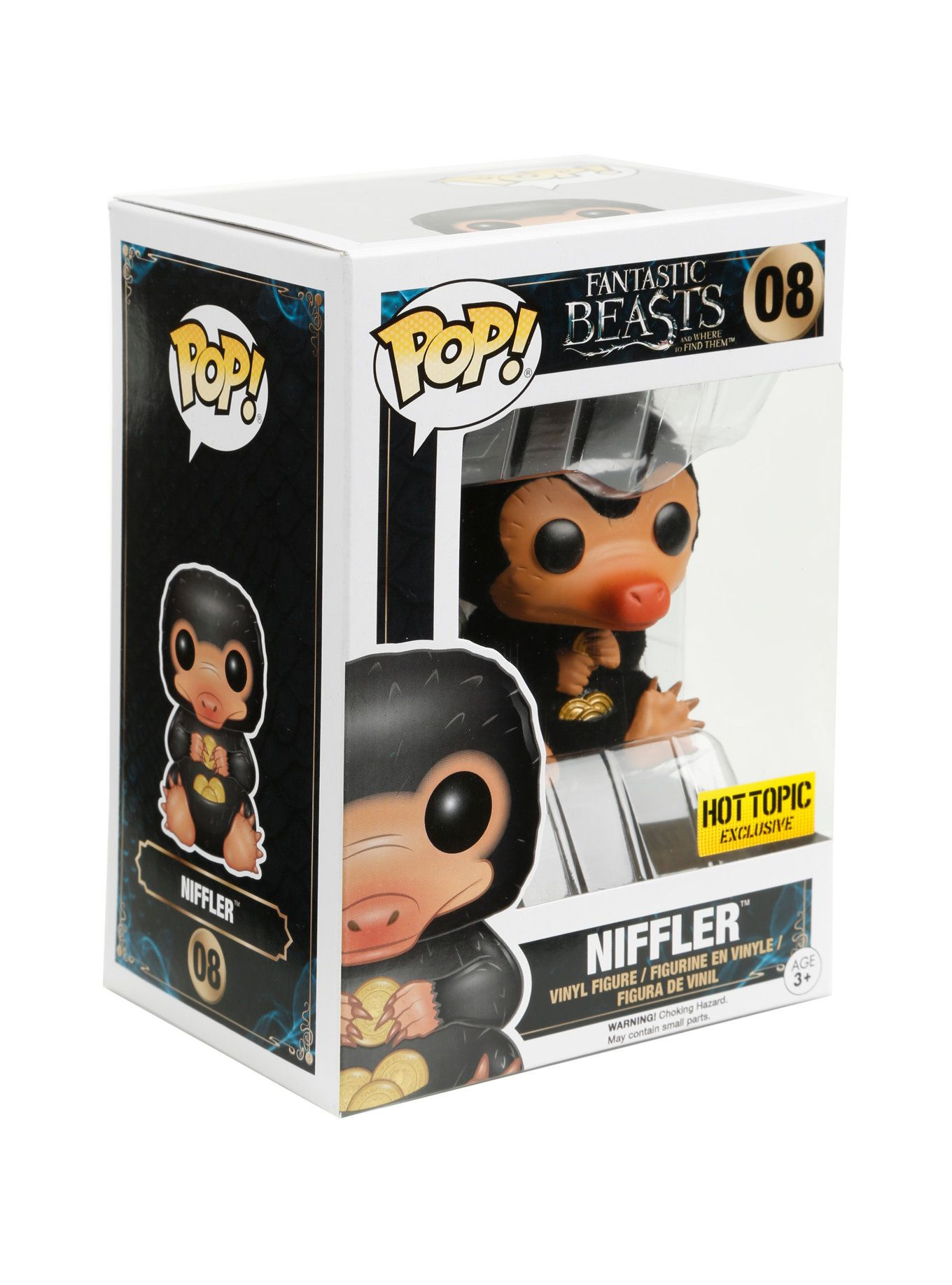 Funko Fantastic Beasts And Where To Find Them Pop Niffler Flocked Vinyl Figure Hot Topic Exclusive Fantastic Beasts Vinyl Figures Fantastic Beasts And Where
