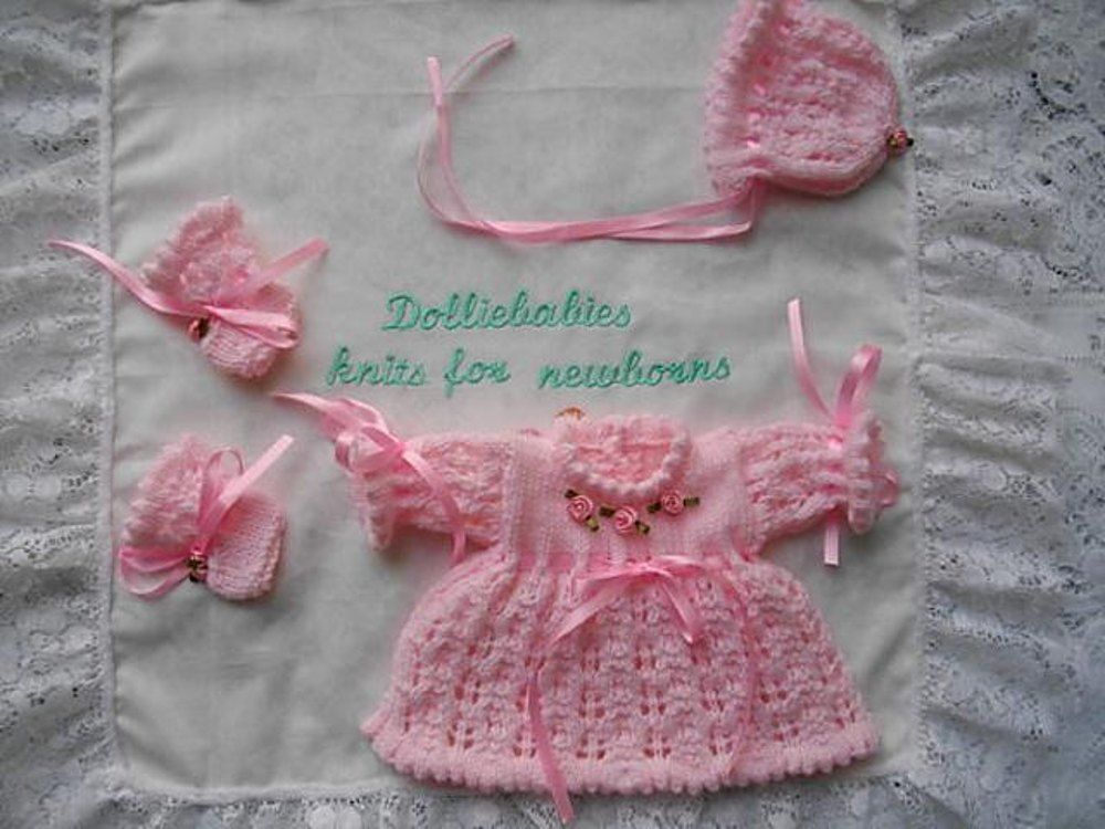 41. Micro Preemie Dress Set | Micro preemie, Preemies and Knit patterns