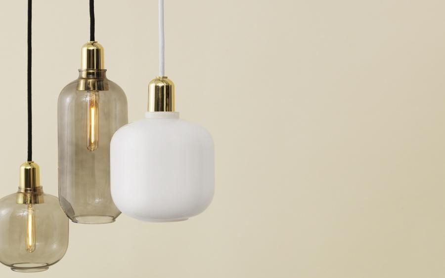 Amp pendel L, røkmessing i 2020 | Lampe, Lamper
