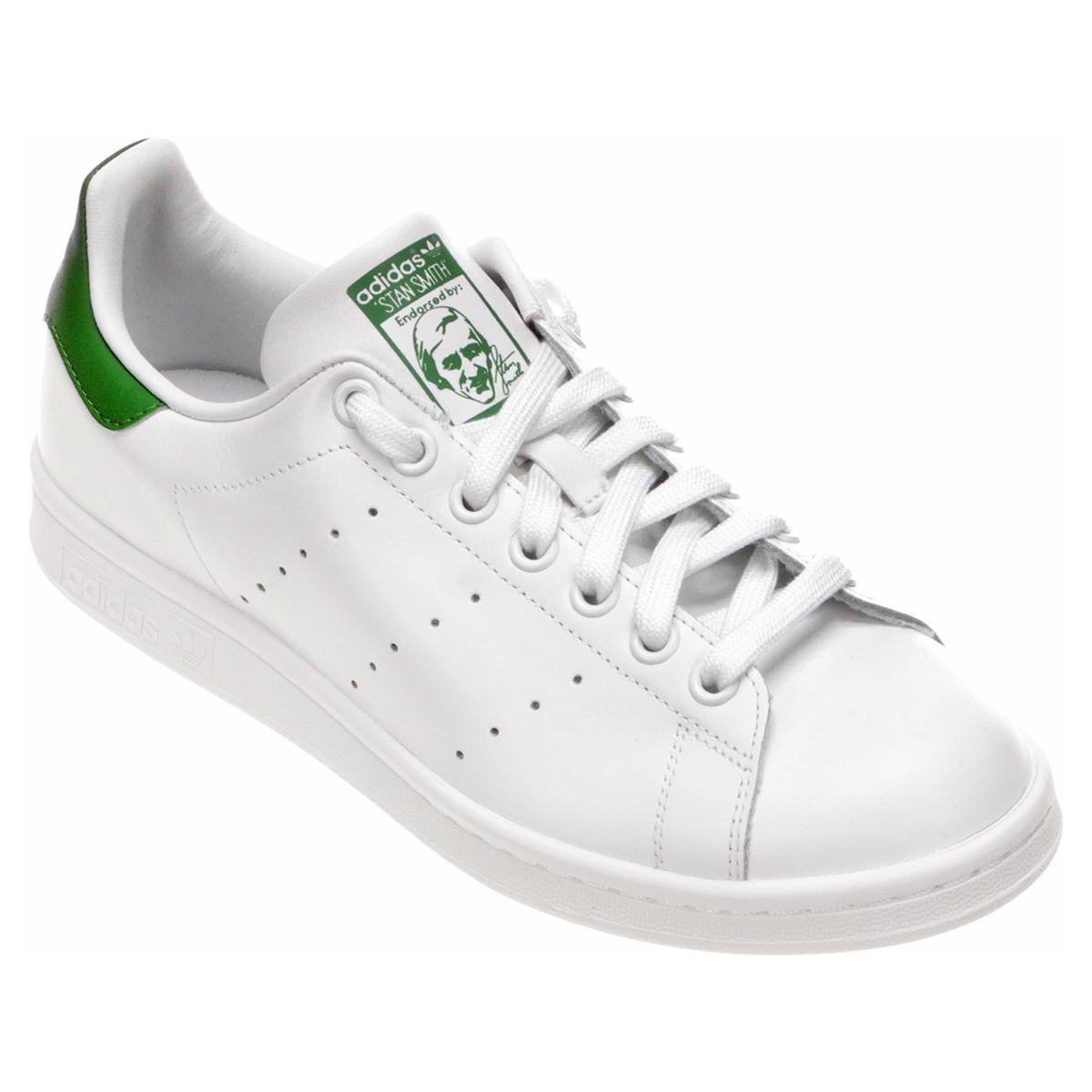 Tênis Adidas Stan Smith Branco e Verde  2dfeca71c5a3d