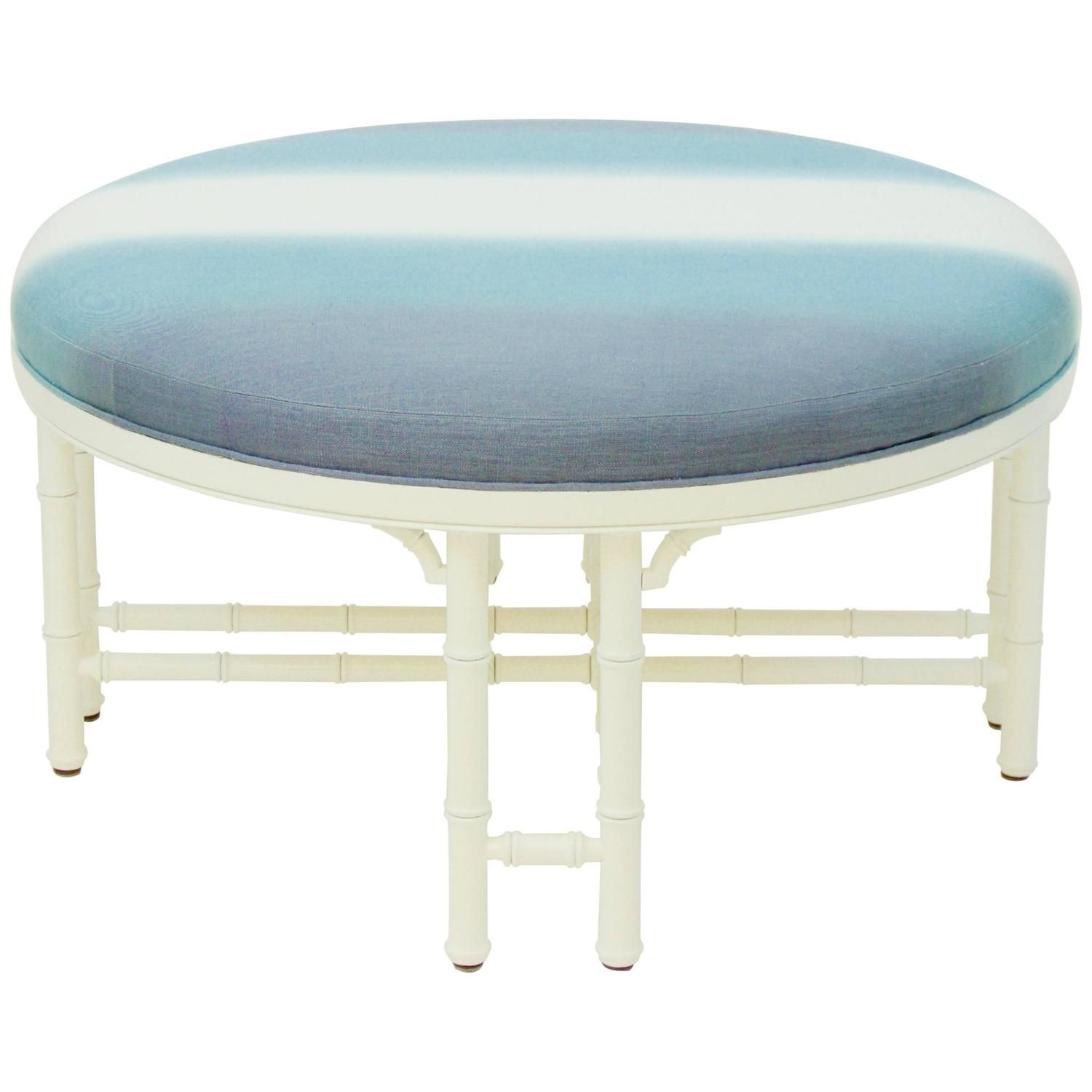 Miraculous Vintage Round Ottoman With Faux Bamboo Detailing My Caraccident5 Cool Chair Designs And Ideas Caraccident5Info