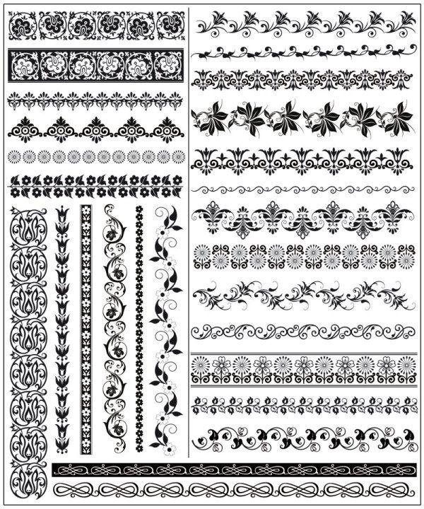 pattern Free European Style Lace Pattern Vector Corner