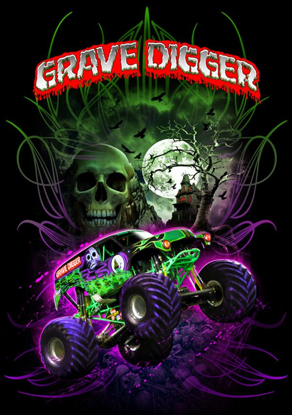 It S The Black And Green Wrecking Machine Grave Digger Between